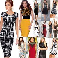 Elegant Women Summer OL Bodycon Evening Party Work Office Pencil Business Dress