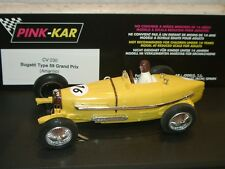 dqvn) PINK KAR CV030 BUGATTI TYPE 59 GRAND PRIX amarillo/yellow -slot 1:32 scale