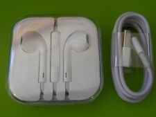 GENUINE Apple Headphone with Volume & Lightning Cable for iPhone,iPod and iPads