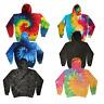 Colortone Tie Dye Hoodie Sweater Jumper S-2XL Pride Festival