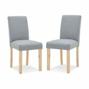 Set Of 2 Dining Chair With Elegant Upholstered Seat Kitchen Armchairs AU