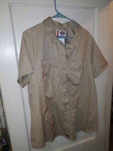 Dickies Tailored Fit Short Sleeve Shirt Size: 2x