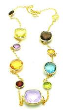 Collares y colgantes de joyería con gemas de oro amarillo topacio amatista