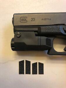 HANDLEITGRIPS Textured Rubber Index Finger Grip Tape for Glock 19 Gen 3 Set