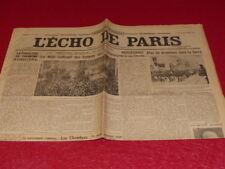 [PRESS WW2 AVANT GUERRE] THE ECHO DE PARIS #20156 24 DECEMBRE 1934 Saarland & c