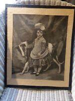 GRAVURE ANCIENNE PORTRAIT , ENCADREE