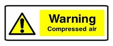 2 x Warning Compressed Air self adhesive vinyl business sticker health & safety