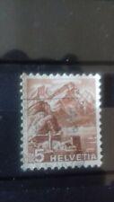 Suisse 1950 : Timbre sur les montagne oblitéré  .