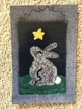 New listing Sweet Bunny Rug Hooking Kit- All Wool, quick, easy how-to directions - New