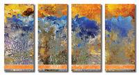 Metallbilder 4 Bilder moderne abstrakte Kunst auf Alu Designer Wandbilder Deko