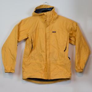 VTG Patagonia Storm Super Pluma Yellow Waterproof Jacket Medium 1995 Gore Tex