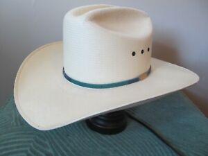 USED Texas Wrangler Western 10X Sheepskin Leather Cowboy Hat 7 1/4 or 7 1/8 USA