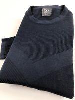 Calvin Klein CKJ Crew Neck Jumper Men's Navy Blue Textured Pullover Sweater