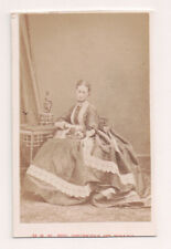Vintage CDV Princess Alexandra of Denmark Queen of Great Britain Disderi Phot