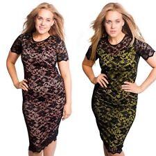 Plus Size Floral Stretch, Bodycon Cocktail Dresses for Women