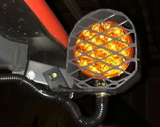 """4"""" Round LED Pedestal Light Turn Signal Protector with Metal Guard"""