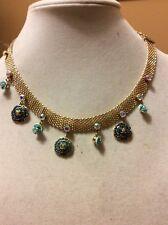$65  Betsey Johnson Skull & Roses Choker Necklace (2) BT 5