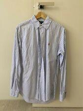 Polo Ralph Lauren Shirt | Blue/White Stripe | Long Sleeve | Small Custom Fit