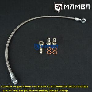 MAMBA Turbo Oil Feed Line 09~ Citroen 1.6 HDI DV6D C2 C4 DS3 TD02H2 49373-02002