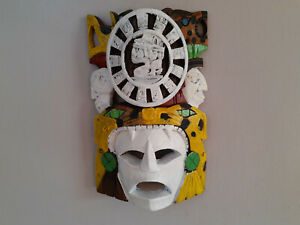 Wall Hanging Mask Hand Painted Wood Mask Room Decor
