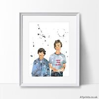 Napoleon Dynamite Print Poster Watercolour Framed Canvas Wall Art Gift