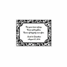 60 Personalized Damask Wedding Tears of Joy Favor Labels Stickers 2x2.675""