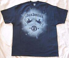 Jack Daniels Old No. 7 T Shirt Black Diagonal Rodeo Horses Logo Tee Men's XXL