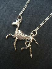 Unicorn Skeleton Necklace Pendant Skull Kitsch Horse Myth Magic Wicca Fantasy