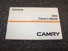 1986 Toyota Camry Sedan Owner Owner's Operator User Guide Manual DX LE 2.0L