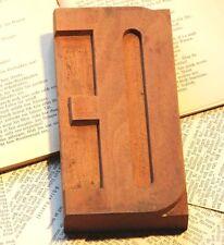 Letter ΠOE wood type character rare letterpress printing block ligature sign