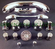 Custom Xbox 360 Controller Bullet Buttons x 8! + Full Trim Mod Kit Silver Chrome