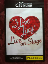 I LOVE LUCY Live on Stage playbill Boston 2013 theatre based on tv series