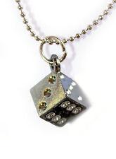 NEUF Pendentif en metal argente avec cordon . Promotion -40% !!
