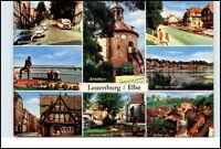 LAUENBURG Elbe Mehrbild-AK Postkarte ca. 70er Jahre Häuse Strasse Autos uvm.