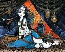 Tribal Fusion Djinn Fairy Oracle Snake Celestial Signed Myka Jelina Print Santha