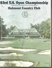 1983 US UNITED STATES OPEN GOLF CHAMPIONSHIP PROGRAM 304 PAGES SIGNED BY 21