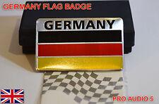 Bandera De Alemania insignia del coche-Boot cuerpo de aluminio cepillado alemán Van Camioneta Vw Audi, Reino Unido