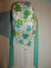 """BABY/TODDLER DOORAG"" Keep their Heads Protected:""FROGS,BLUES,GREENS,RIBBIT"""