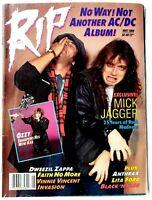 Rip Magazine May 1988 AC/DC Ozzy Osbourne Anthrax Lita Ford Mick Jagger FNM
