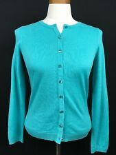 Talbots Teal Cardigan Sweater Size S/P NWT