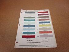 1959 Pontiac car paint color chip chart sheet sample