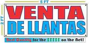 VENTA DE LLANTAS Banner Sign NEW