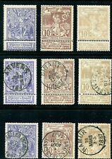 1896-1897 Belgium Stamps. 3 Complete Sets (One is Unc, Lh) Sc#79-81 (A30,A31)