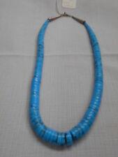 Indian MadeTurquoise beaded Necklace by Darva Calabaza, Santo Domingo Pueblo