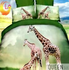 Celebrity Collection Queen Size 3D Bedding Set of 3 -Giraffes Design