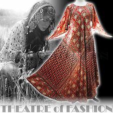Vintage Indian Dress 70 S 8 10 12 14 16 18 20 60 S Hippy Boho Mariage Déesse poète