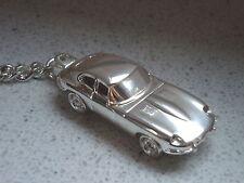 Schlüsselanhänger Jaguar E Type versilbert    5117