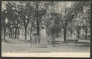 Postcard Jersey Channel Islands the Bust of Constable Baudains posted 1905