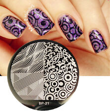 Nail Art Stamping Plate 4 Mixed Images Stamp Template  #21 Nail Tool BORN PRETTY