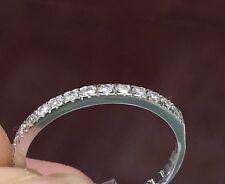 14K SOLID GOLD natural cut GENUINE DIAMOND wedding band over 1/4 ct REAL Diamond